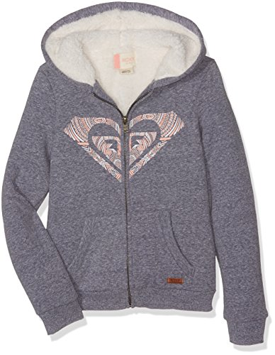 Roxy Wild Nothing Sweatshirt Mädchen 10 Jahre Blue Print Heather (Roxy Full Zip Sweatshirt)