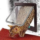 TQP-CK Pet Mate 4-Wege Verschluss Katzentür Katzenklappe Haustier Tür Freilauftür