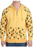 Veste à capuche hoodie Minecraft Ocelot fermeture éclair jaune - XL