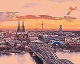 FSKJSZYH Rahmenloses Malen Nach Zahlen DIY Eurasia Institute Berlin Auf Leinwand Malen Nach Zahlen...