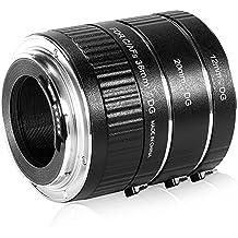 Neewer-Pieza 12-20-(36 mm)-Juego de tubo de extensión Macro para Canon EOS automático, 1D, 1Ds, 5D Mark 2, 3, II, III, 6D, 7D, 10D 20Da 20D, 30D, 40D, 50D, 60D, 60Da, 70D, 100D, 300D, 350D, 400D, 450D, 500D, 550D, 600D, 650D y 700D 1000D 1100D 1200D Rebel SL1 XT XTi XS XSi, T1i, T2i, T3, T3i y T4i, T5 T5i Kiss N F X X2, X3 X4 X5 X6i X7i X50 X70 réflex digital