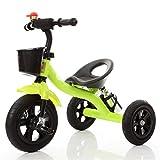 QWM-Baby Kinderfahrräder Dreirad-Baby-Wagen-Fahrrad-Kind-Spielzeug-Auto Aufblasbares Rad / Schaum-Rad-Fahrrad verwendbar für 1-2-3-4 Jährige (Junge / Mädchen), Grün Kindergeschenk-QWM ( Farbe : A type )
