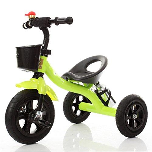 Babywagen Dreirad-Baby-Wagen-Fahrrad-Kind-Spielzeug-Auto Aufblasbares Rad/Schaum-Rad-Fahrrad verwendbar für 1-2-3-4 Jährige (Junge/Mädchen), Grün Fahrrad (Farbe : B Type)