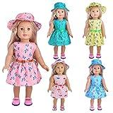 Puppenkleidung 3 Sätze Freizeitkleidung für 18 Zoll American Dolls und andere 43-46cm Puppen (zufällig gesendet)