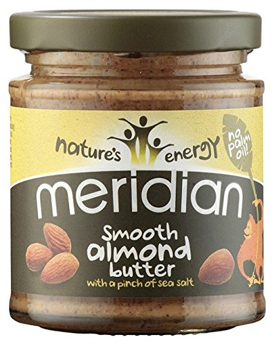 Meridian - Natural Almond Butter Smooth With Salt 100% - 170g (Case of 6)