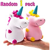 R HORSE Kawaii Jumbo Unicorn Squishy Slow Rising Sweet Scented Vent Charms Kid Toy Hand Toy Stress Relief Toy, Decorative Props Doll Gift Fun Large (White Unicorn Hippo)