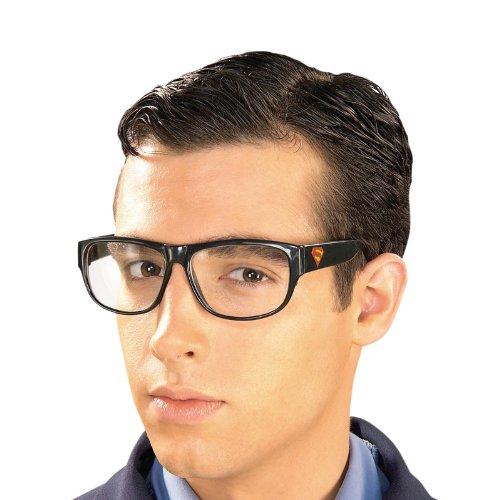 Superman - Clark Kent Nerd Brille, Kostüm Zubehör, Accessoire, Kunststoff (Superman Clark Kent Kostüme)