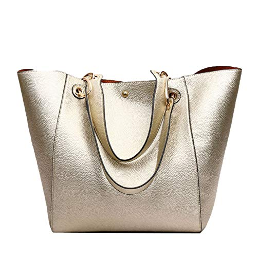 Women's Vintage Bucket Tasche PU Leder Schultertasche Top-Griff Handtasche Tote Bag,07-M -