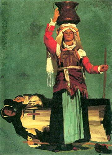 Steckdose Kostüm - Der Museum Steckdose-Italienisch Kostüm Studies By Bierstadt-Leinwand (61x 45,7cm)