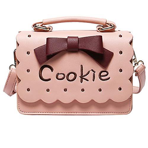 e süße Mädchen Meng Tragbare Kleine quadratische Paket Schulter Messenger Disco-Tasche - rosa ()