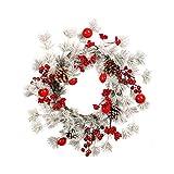 Hutiee Weihnachtskranz Weihnachten Garland Deko-Kranz,Weiße Kiefernnadelglocken-Kieferngirlande, Passend Für Haupthoteleinkaufszentrum-Fensterdekoration