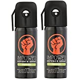 IMPOWER Self Defence Pepper Spray for Women and Men - Sprays upto 12 feet and 45 Shots - Police Strength