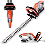 Terratek Cordless Electric Hedge Trimmer 18V / 20V-Max Lithium-Ion, 51cm (510mm) Cutting Length, Easy cut Pro Lightweight Garden Handheld Cutter, Includes Battery, Charger and Safety Blade Guard