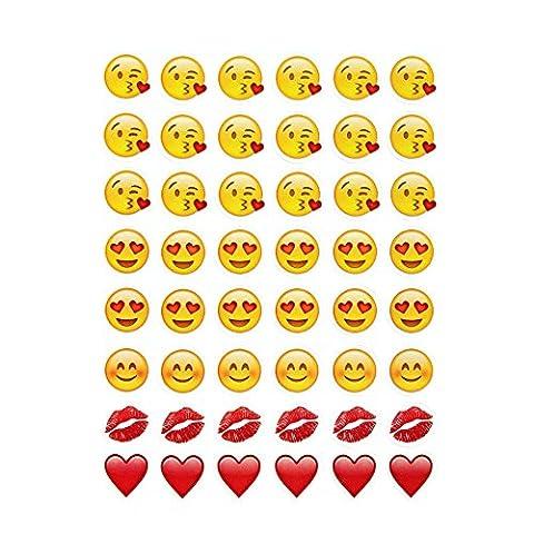 CS PRORITY 5 sheets hot popular sticker 480 Kiss Emoji stickers for notebook, message Twitter Large Viny Instagram