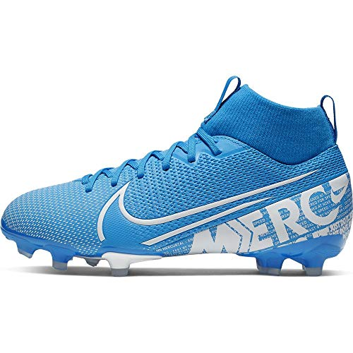 Nike Unisex-Kinder Jr Superfly 7 Academy Fg/mg Fußballschuhe, Mehrfarbig (Blue Hero/White/Obsidian 414), 37.5 EU