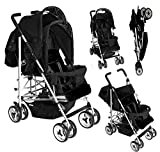 Duo Twin Tandem Double Pushchair complete with 2 seat units, fully reclining lie