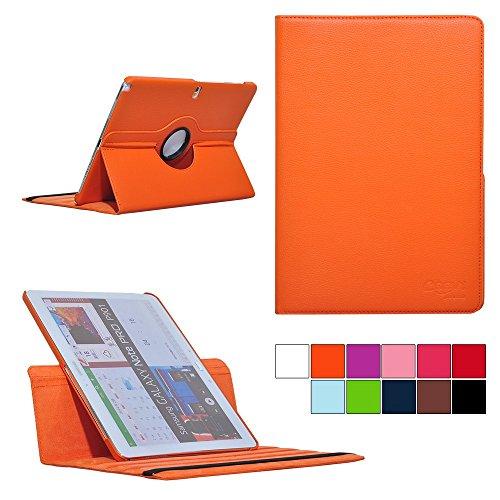 COOVY® Cover für Samsung Galaxy Note PRO 12.2 SM-P900 SM-P901 SM-P905 Rotation 360° Smart Hülle Tasche Etui Case Schutz Ständer | Farbe orange