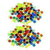 Baoblaze 200 Pedazos Fichas Bingo Chip Plástico Translúcido para Juego de Mesa