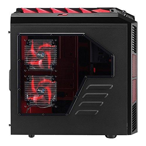 Aerocool Xpredator X3 Devil Red EDI. Midi-Tower Gaming-Gehäuse (Micro-ATX, 3X 5,25 Externe/interne, 1x 3,5 Externe, 2X USB 3.0) schwarz/rot