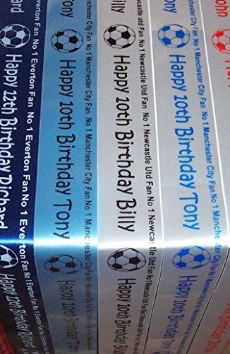 Premier League Fußball 1-Kuchen, Geschenkpapier-Band Team für alle jeder Name/Nachricht West Ham United -