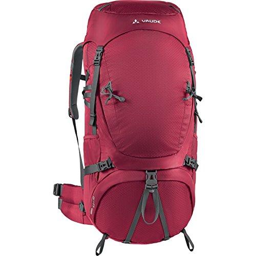 VAUDE Astrum 60+10 M/L - Macuto de senderismo color dark indian red, talla 70L