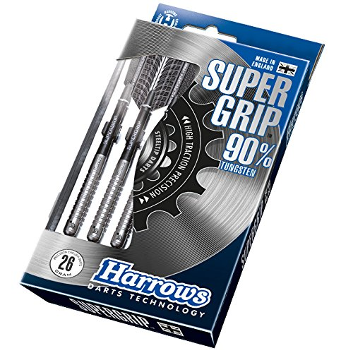 Harrows - Dardos «Super Grip» de tungsteno, Unisex, DATS24, Plata, 24 g