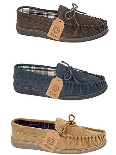 Pantofole Da Uomo In Vera Pelle Scamosciata Da Uomo E Da Uomo, Misura 41 - 47 Anni