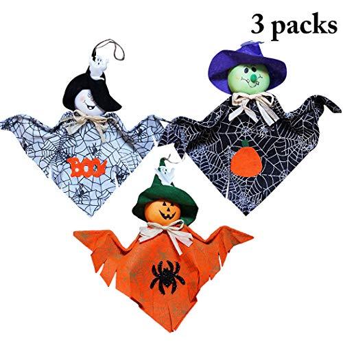 Fansport 3PCS Halloween hängende Verzierung Cute Ghost Halloween Ornament Halloween Prop