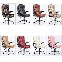 Casa di moda sedia per ufficio sedia girevole sedia computer sedia massaggio, sedia in pelle,cuoio + massaggio