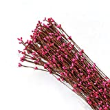 #1: AsianHobbyCrafts Artificial Pearl Pollen Wire: Pink : Set of 12 : for Tiaras, Bouquets, Wrist Corsage