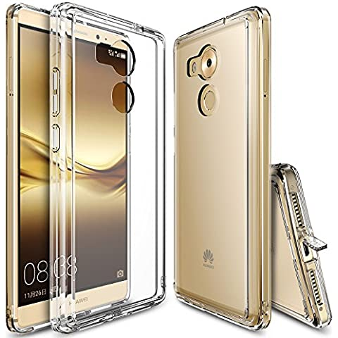 Funda Huawei Mate 8, Ringke [FUSION] Choque Absorción TPU Parachoques [Choque Tecnología Absorción][Conviviente tapón antipolvo] para Huawei Mate 8 - Crystal View