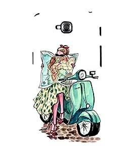 Fabcase amazing girl on scooter vespa posh high fashion black glasses map worldtour Designer Back Case Cover for LG G Pro Lite :: LG Pro Lite D680 D682TR :: LG G Pro Lite Dual :: LG Pro Lite Dual D686