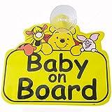 #9: Fusion Baby On Board Pooh Auto Accessory