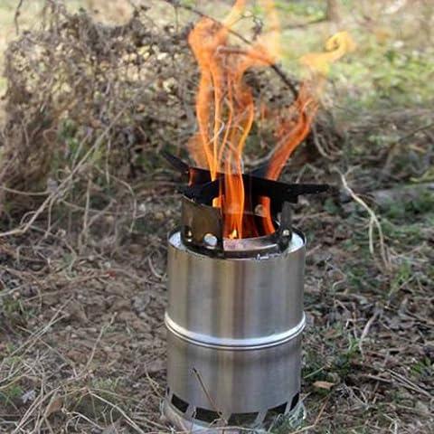 portatile in acciaio inox Stufa a Legna