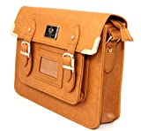 Señoras, vintage, estilo de cuero, cartera, bolso, marrón