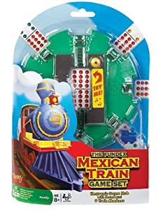 POOF-Slinky 0X5478 Ideal Mexican Train Game Set with Electronic Sound Effect Game Hub and Train Markers by Ideal TOY (English Manual)