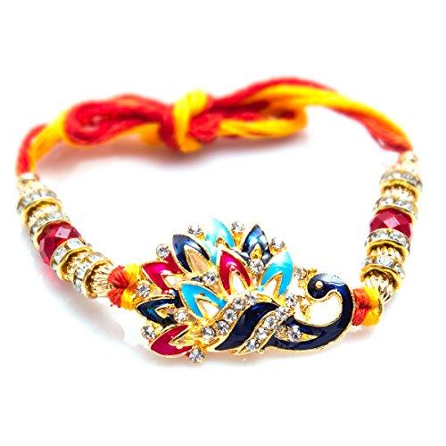 VIBHAVARI Gold Elegant Rakhi For Beloved Brother (Men/Boy)