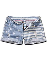 Brandit Stars and Stripes Pantalón corto 'Hot Pant' Mujer