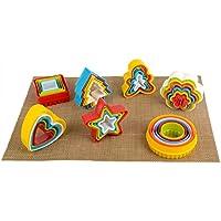 MEICHEN Hot modelli plastica biscotto cottura biscotto stereo DIY fumetto Qu Qimo con la casella , heart