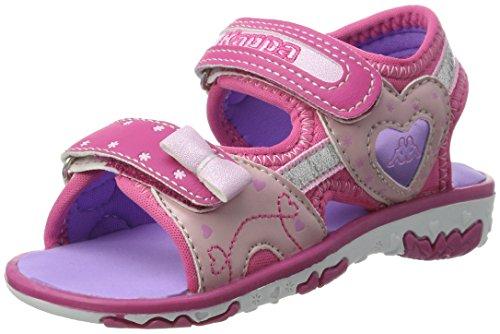 Kappa Mädchen Sweetheart II Kids Riemchensandalen, Pink (2226 Pink/Purple), 31 EU (Glatte Mädchen Sandalen)
