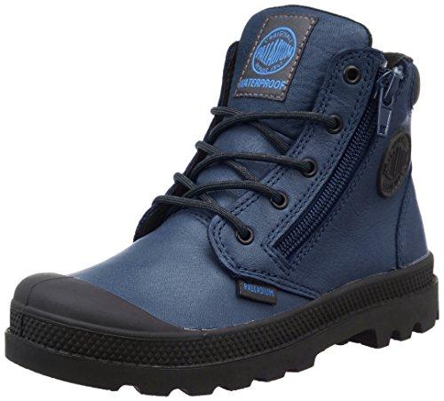 PalladiumHi Cuff Wp K - Sneaker Unisex - Bambini , Blu (Bleu (747 Dark Denim/Black)), 35