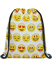 Artone Canvas Drawstring Bag Travel Daypack Sports Portable Backpack
