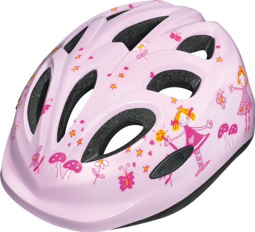 Abus Unisex - Kinder Fahrradhelm Smiley, princess, 45-50 cm, 48040-9