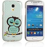 tinxi® Schutzhülle für Samsung Galaxy S4 Mini Hülle TPU Silikon Rückschale Schutz Hülle Silicon Case mit Eule Owl Muster in Hellgrün