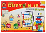 #8: Toyztrend Preschool Educational Button It Right Junior Pictures & Patterns 2 in 1 Game for Kids Ages 3+ Multicolour