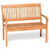 Gartenbank MARACAIBO 2-Sitzer, hochwertiges Eukalyptus Hartholz