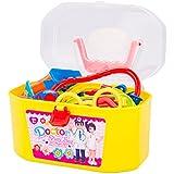 Vococal - Doctora Juguetes Kit - Juegos de imitación Médico con Maletín y accesorios plástico para niños niñas
