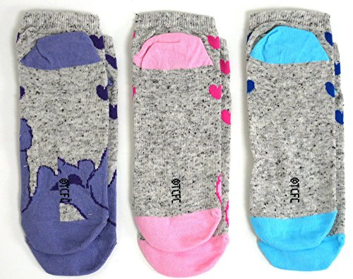 Image of Ladies 3 Pairs Care Bears Shoe Trainer Liners Socks UK Size 4-8 Eur 37-42 US 6-10