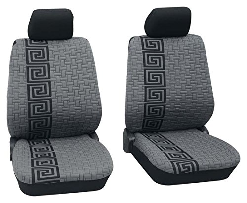 Preisvergleich Produktbild Sitzbezug Schonbezug Autositzbezug, Vordersitzbezüge, Rover 45, Schwarz, Grau