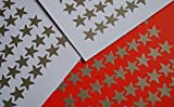 Silver Merit Stars Metallic Self Adhesive 13mm ideal as reward stickers, 6 sheets from LABELS4U ® TM Branded Product